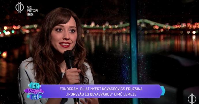 Kovácsovics Fruzsi az M2 Petőfi TV műsorában mesélt 3. Fonogram-díjáról!